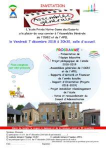 Assemblée Générale OGEC-APEL @ Ecole Notre Dame